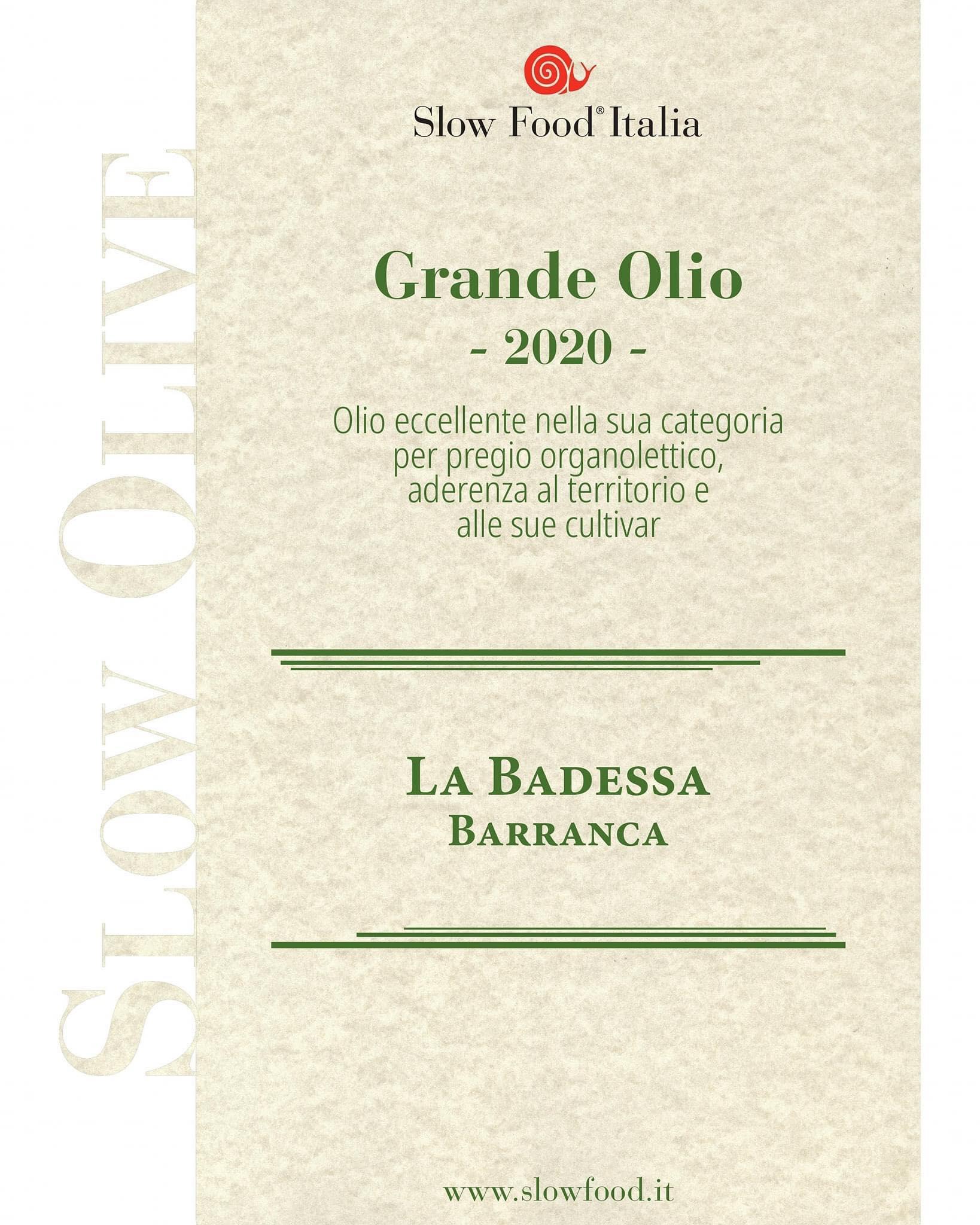 バランカスローフード協会偉大なオリーブオイル