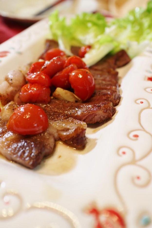 6月レシピ 肉トマト