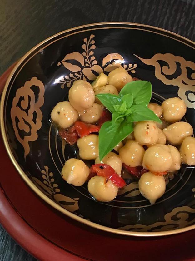 9月ひよこ豆のマリネ