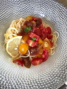 7月ミニトマトとバランカの冷製パスタ